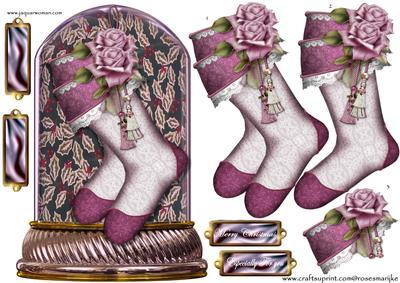 Christmas stockings globe cup582761 936 craftsuprint for Charles craft christmas stockings