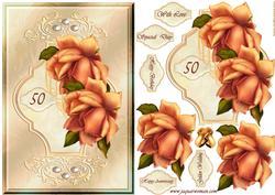 Golden Roses Wedding & Birthday 50 Year