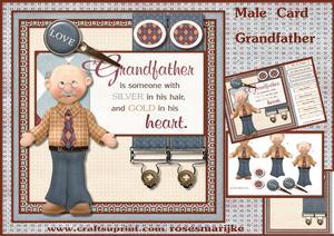 Male Card Grandfather Mini Kit