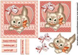 Birthday Girl Kitten