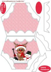 Diaper Baby's First Christmas 3 (baby Girl)