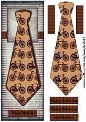 Large Dl Male Card Vintage Tie