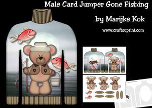 Male Card Jumper Gone Fishing Mini Kit