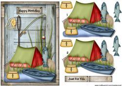 Male Card Gone Fishing