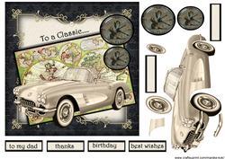 Male Card Classic Car