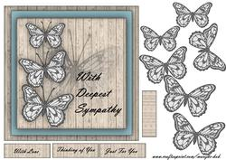 Butterfly Sympathy Wishes -