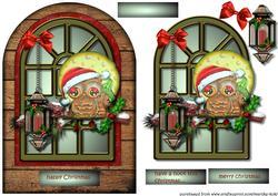 Christmas Owl Arch Card