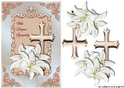 Sympathy Cross & Lilies