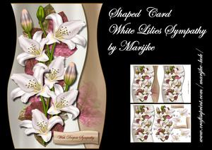Shaped Card White Lilies Sympathy