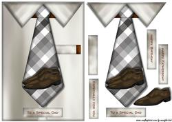 Male Card Tie & Shoes