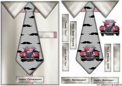 Male Card Tie & Mg Car