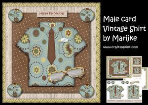 Male Card Vintage Shirt Mini Kit