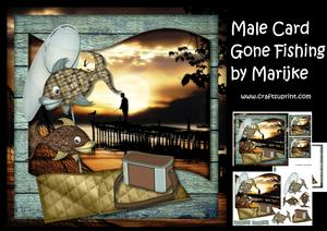 Male Card Gone Fishing Mini Kit