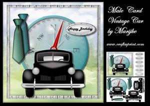 Male Card Vintage Car Mini Kit