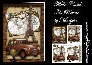 Male Card Au Revoir Mini Kit