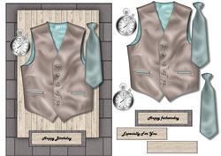 Male Card Vest & Tie