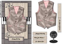 Male Card Vest & Music