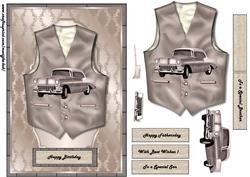 Male Card Vest & Vintage Car