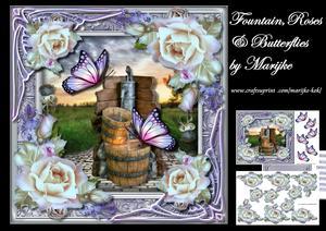 Fountain, Roses & Butterflies Mini Kit