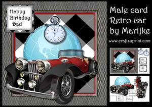 Male Card Retro Card World Globe Mini Kit