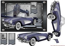 Male Card 1950's Car 2