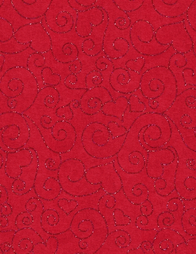 Red Glitter Heart Design On A4 Size Digital Paper Red