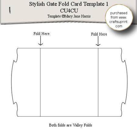stylish gate fold card template 1 cup289339 99 craftsuprint. Black Bedroom Furniture Sets. Home Design Ideas