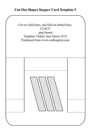 Cut-out Shapes Stepper Card Template 5