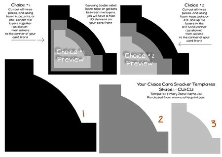 Your Choice Stacker Templates Shape 1 - Cu4cu