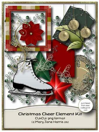 Christmas Cheer Element Kit - Cu4cu