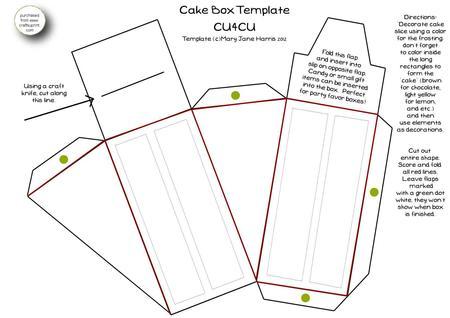 Cake Slice Box Template Free