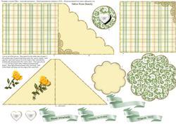 Yellow Rose Beauty Scalloped Edge Card