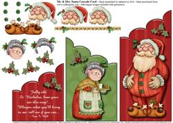 Mr. & Mrs. Santa Cascade Card