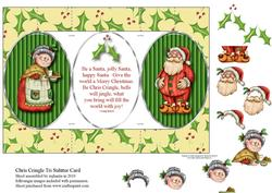 Chris Cringle Tri Shutter Fold Card