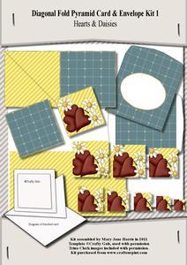Diagonal Fold Pyramid Card & Envelope Kit 1