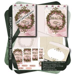 Wedding Wreath Pyramid Card Kit