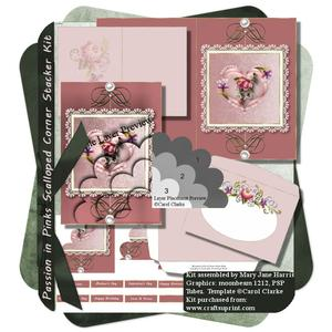 Passion in Pinks Scalloped Corner Stacker Kit