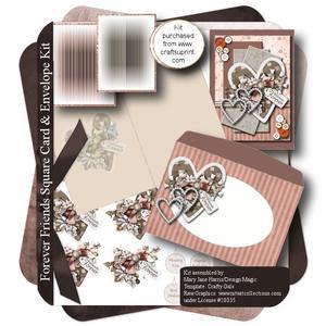 Forever Friends Square Card & Envelope Kit
