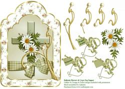 Daisies & Cross Tag Topper 2