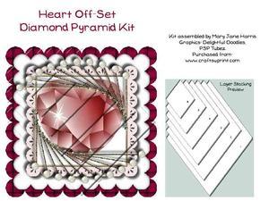 Heart Off-set Diamond Pyramid Kit