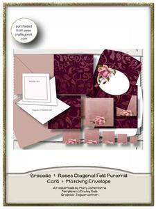 Brocade & Roses Diagonal Fold Pyramid Card Kit