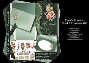 My Whole World Card & Envelope Kit