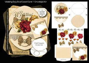 Wedding Day Oval Easel Card & Envelope Kit