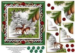 Christmas in the Forest Card Topper