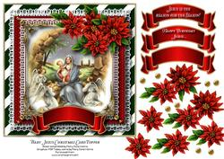Baby Jesus Christmas Card Topper 1