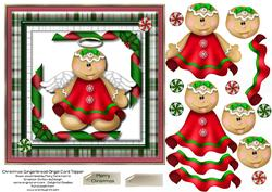 Christmas Gingerbread Angel Card Topper 1