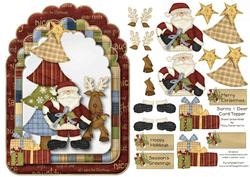 Santa & Deer Card Topper 1