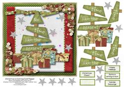 Christmas is Coming Card Topper