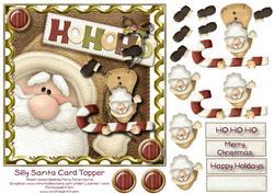 Silly Santa Card Topper 1