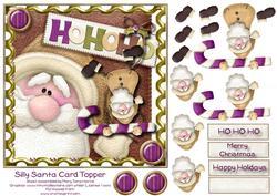 Silly Santa Card Topper 2